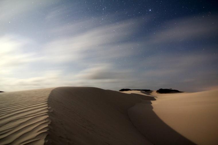 Les dunes du Parque Nacional dos Lençóis Maranhenses sont magnifiques de jour comme de nuit.