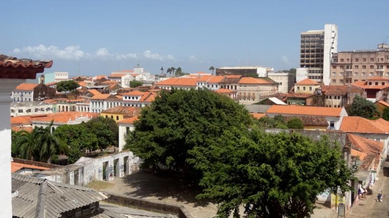 Vista de conjunto do centro histórico de São Luis que faz parte do patrimônio mundial da humanidade da UNESCO