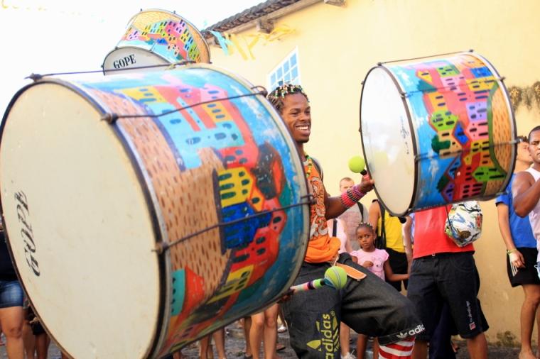 Quando chegamos, os preparativos do carnaval já tinham começado, para nossa felicidade!
