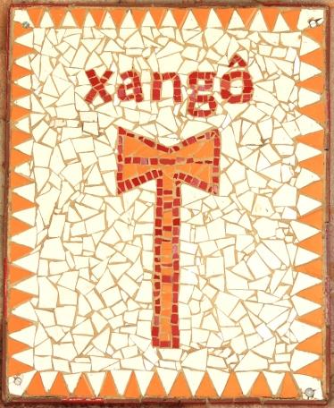 Symbole de l'Orixá Xangô, le dieu de la justice