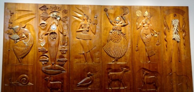 Obras do artista argentino Carybé no museu Afro-Brasileiro