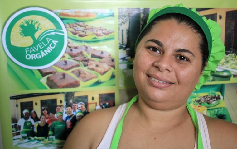 Regina Tchelly, l'initiatrice du projet Favela Orgânica dans la communauté de Babilônia