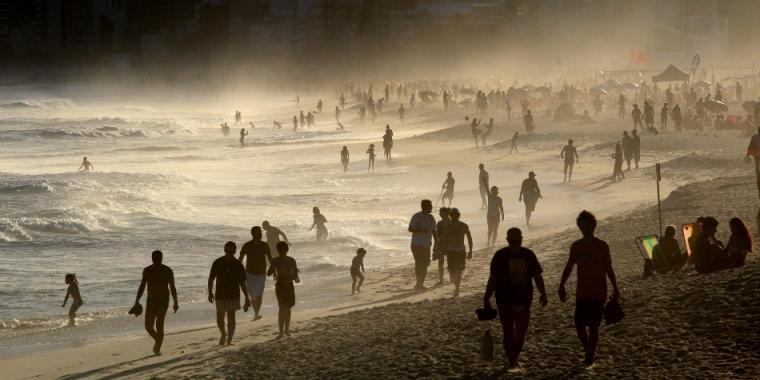 Lieu mythique pour voir le coucher du Soleil : plage d'Ipanema
